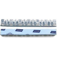 Грузик балансировочный свинцовый на синей ленте Norton Clipper, шт 45 гр (7х5 гр + 6х2,5 гр) 50/50