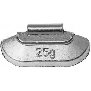 Грузик балансировочный для стальных дисков 25 гр, шт 100/100