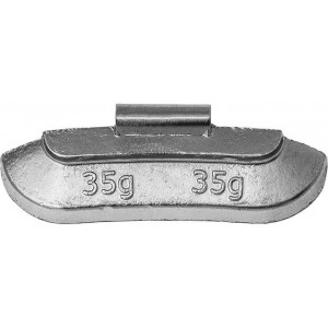 Грузик балансировочный для стальных дисков 35 гр, шт 50/50