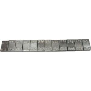 """Грузик балансировочный стальной """"тонкий"""" на синей ленте Ecoline серый, шт 60 гр (12х5 гр) 100/100"""