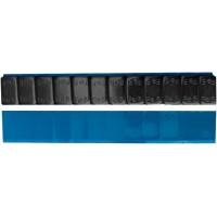 """Грузик балансировочный стальной """"тонкий"""" на синей ленте Ecoline черный, шт 60 гр (12х5 гр) 50/50"""