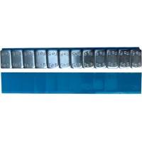 """Грузик балансировочный стальной """"тонкий"""" на синей ленте Ecoline серый, шт 60 гр (12х5 гр) 50/50"""