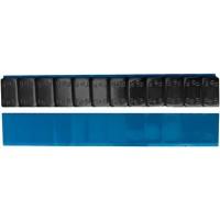 """Грузик балансировочный стальной """"тонкий"""" на синей ленте Ecoline черный, шт 60 гр (5+10 гр x 4) 50/50"""