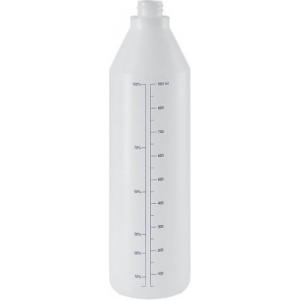 Бутылка пластиковая открытая с градуировкой Eurotec 1000 мл прозрачная, шт 1/1