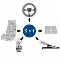 Комплект чехлов одноразовых Eurotec Clean Set 5 пр (сиденье, пол, руль, КПП, руч торм), шт 100/100