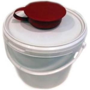 Диспенсер для влажных салфеток с крышкой дозатором Eurotec 3,8 л красно-белый, шт 1/1