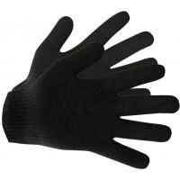Перчатки трикотажные Eurotec 4 нити 10 кл черные, пара 300/300