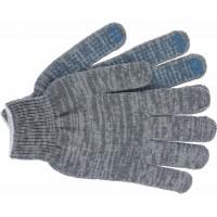 Перчатки трикотажные с ПВХ Eurotec 4 нити 10 кл серые, пара 300/300