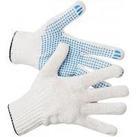 Перчатки трикотажные с ПВХ Eurotec 5 нитей 10 кл белые, пара 200/200