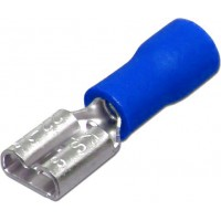 """Клемма ножевая 6.3 мм """"мама"""" изолированная синяя, шт 100/100"""