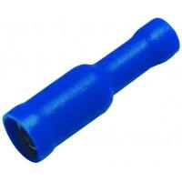 """Клемма центрального замка 4.9 мм """"мама"""" изолированная синяя, шт 100/100"""