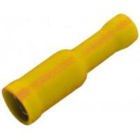 """Клемма центрального замка 4.9 мм """"мама"""" изолированная желтая, шт 100/100"""