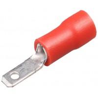 Клемма ножевая 2.8 ПАПА изолированная красный (уп. 100шт.)