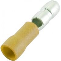 """Клемма центрального замка 5.0 мм """"папа"""" изолированная желтая, шт 100/100"""