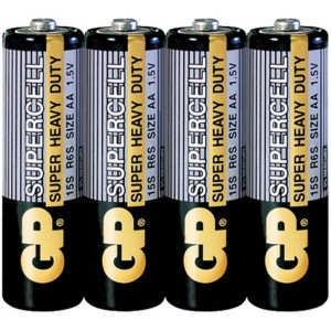 Батарейка AA 1,5V солевая Supercell GP 15S, шт 4/40