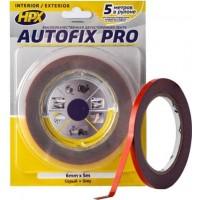 Лента клейкая двусторонняя сильной фиксации HPX Autofix Pro 06х0.8 мм серая, рулон 5 м в блистере 1/