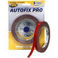 Лента клейкая двусторонняя сильной фиксации HPX Autofix Pro 09х0.8 мм серая, рулон 5 м в блистере 1/