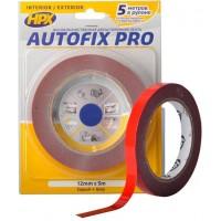 Лента клейкая двусторонняя сильной фиксации HPX Autofix Pro 12х0.8 мм серая, рулон 5 м в блистере 1/