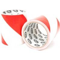 Лента барьерная HPX Barrier Tape 100 мм красно-белая, рулон 50 м 1/24
