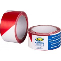 Лента барьерная HPX Barrier Tape 50 мм красно-белая, рулон 100 м 1/30
