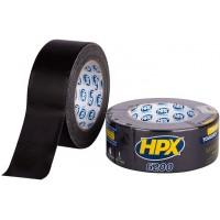 Лента клейкая армированная HPX 6200 черная 50 мм, рулон 25 м