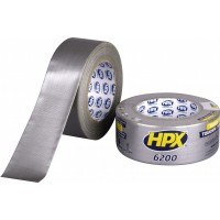 Лента клейкая армированная HPX 6200 серебристая 50 мм, рулон 25 м