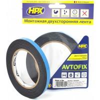 Лента клейкая двусторонняя сильной фиксации HPX Autofix 09х1.0 мм черная, рулон 5 м 1/20