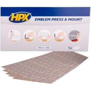 Клей в листах для монтажа эмблем HPX 200х100 мм прозрачный, уп 5 шт 1/ 50