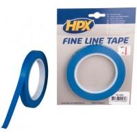 Лента маскирующая HPX 12 мм x 33 м, контурная синяя