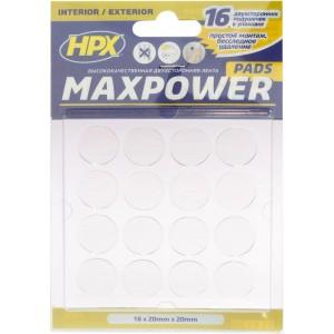 Высечка из ленты HPX Maxpower круглая d=20 мм прозрачная, уп 16 шт в блистере 1/40