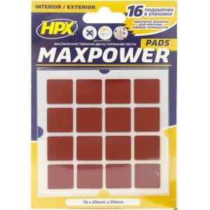 Высечка из ленты HPX Maxpower квадратная Outdoor 2х2 мм черная, уп 16 шт в блистере 1/40