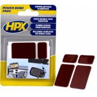 Подушки клейкие двусторонние HPX Powerbond черные, уп 2х2 шт в блистере 1/20