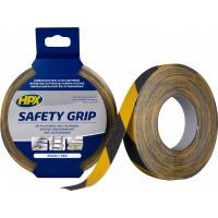 Лента против скольжения HPX Safety Grip 25 мм черно-желтая, рулон 18 м