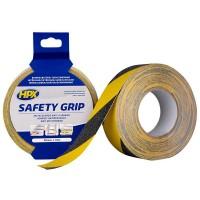 Лента против скольжения HPX Safety Grip 50 мм черно-желтая, рулон 18 м