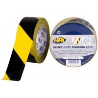 Лента для маркировка пола HPX Heavy Duty 48 мм черно-желтая, рулон 33 м 1/24