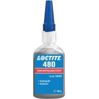 Клей моментального отверждения черный Loctite 480, 50 гр 12/12