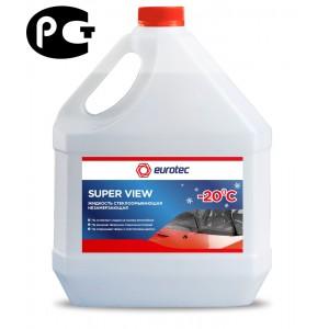 Жидкость стеклоомывающая незамерзающая -20°C Eurotec Super View, канистра 3,78 л 4/4
