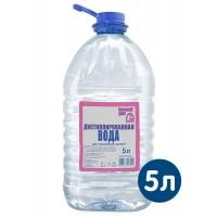Вода дистиллированная, ПЭТ 5 л