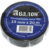 Лента изоляционная самозатухающая Avalon 19x0.13 мм черная, рулон 20 м 1/10