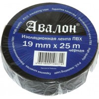 Лента изоляционная флисовая Avalon 19x0.30 мм черная , рулон 25 м 1/10
