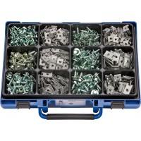 Набор саморезов с шестигранной головкой и шайбой и закладных гаек в чемодане (800шт.), набор