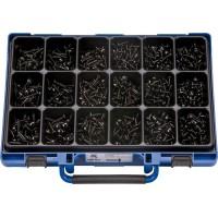 Набор саморезов с пресс-шайбой цинк. черн. в чемодане (1400шт.), набор