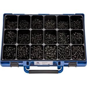 Набор саморезов DIN7981PH цинк. черн. в чемодане (1600шт.), набор