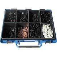 Набор клипс и скоб фиксирующих в чемодане (500шт.), набор