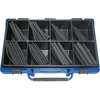 Набор трубок термоусадочных 100мм самогаснущих черных в чемодане (125шт.)