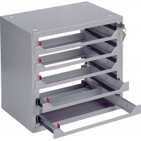Бокс настенный для пяти чемоданов для расходных материалов 360х390х256 с центральным замком (пустой)