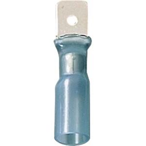 Клемма ножевая 6.3 ПАПА в термоусадочной изоляции синий (упак. 50 шт.), шт.