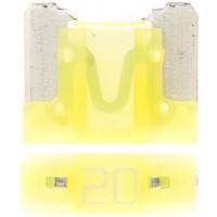 Предохранитель флажковый LOW PROFILE MINI 20А желтый (упак. 25шт.), шт.