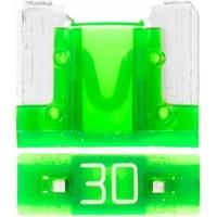 Предохранитель флажковый LOW PROFILE MINI 30А зеленый (упак. 25шт.), шт.