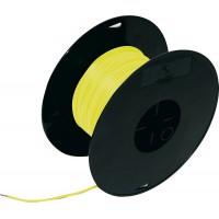 Кабель электрический 1.0 100м на катушке желтый FLK, шт.